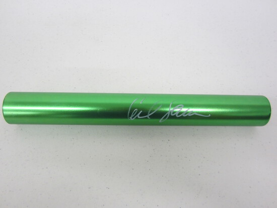 Carl Lewis signed autographed relay race baton Certified COA