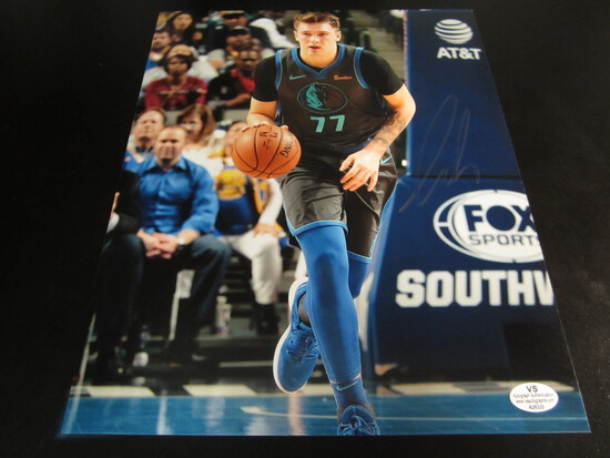 Luka Doncic signed 8x10 photo certified coa