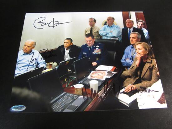 Barack Obama Joe Biden Hillary Clinton signed 8x10 photo certified coa