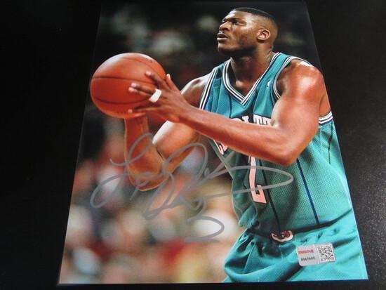 Larry Johnson signed 8x10 photo certified coa