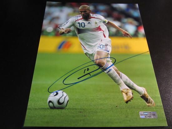 Zinedine Zidane signed 8x10 photo certified coa