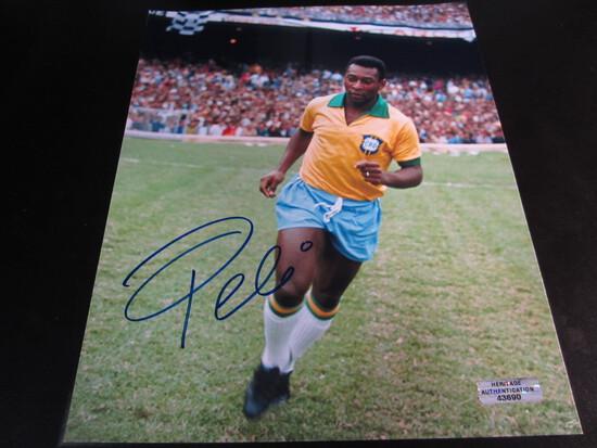 Pele signed 8x10 photo certified coa