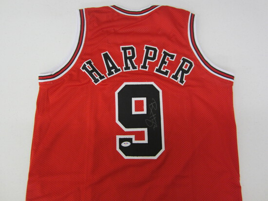 RON HARPER SIGNED JERSEY WITH COA! #9 JERSEY
