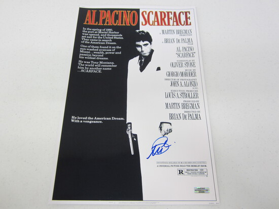 Al Pacino Signed 11x17 Poster WITH COA!