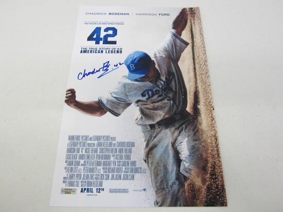 Chadwick Boseman Signed 11x17 Poster WITH COA!