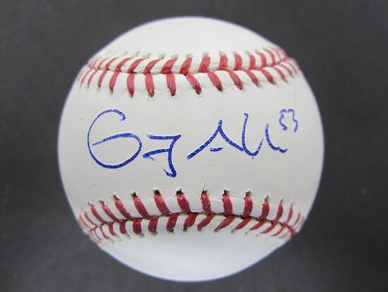 Greg Allen signed Baseball WITH COA!