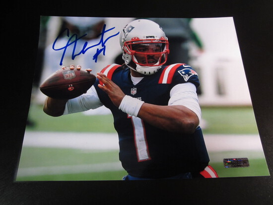 Cam Newton Patriots 8x10 Autographed Photo w/ COA