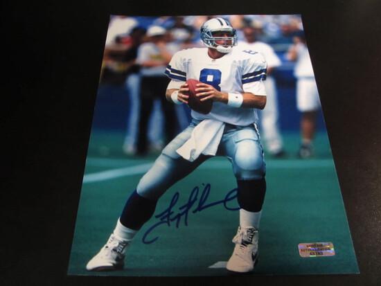 Troy Aikman Cowboys HOFer 8x10 Autographed  Photo w/ COA