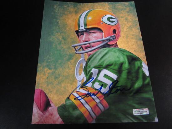 Bart Starr GB Packers HOFer 8x10  Autographed Photo w/ COA