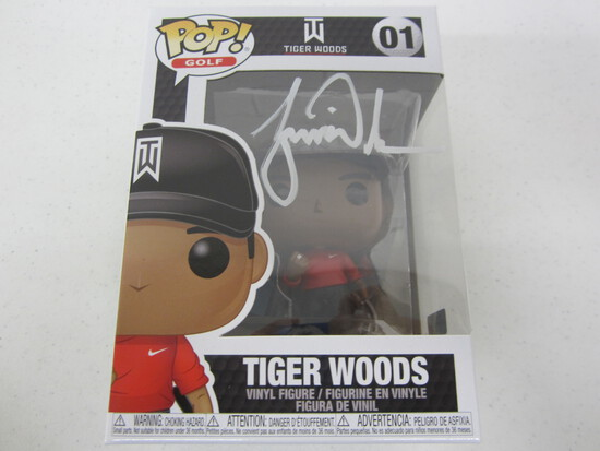 Tiger Woods signed autographed Funko Pop vinyl figure Certified COA