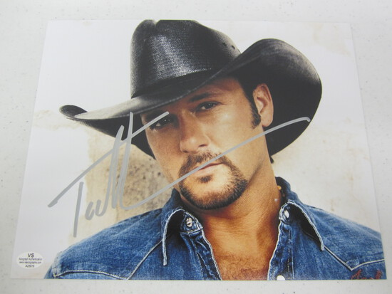 Tim McGraw signed autographed 8x10 photo Certified COA