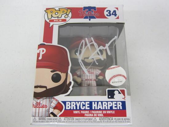 Bryce Harper Philadelphia Phillies signed autographed Funko Pop Vinyl Figure Certified COA