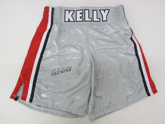 """Kelly """"The Ghost"""" Pavlik signed autographed boxing trunks Certified COA"""