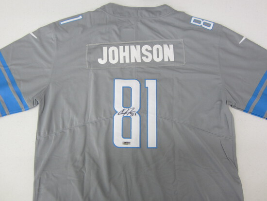 Calvin Johnson Detroit Lions signed autographed football jersey Certified COA