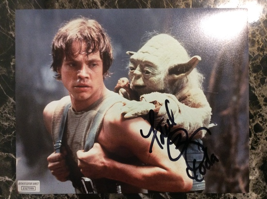 """Star Wars Frank Oz """"Yoda"""" Autographed/signed 8+10 Photo with Certified COA"""
