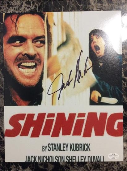 Jack Nicholson Autographed 8+10 Photo with Certified COA