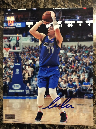 """Luka Doncic """"Dallas Mavericks"""" Autographed 8+10 Photo with Certified COA"""