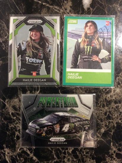 2020 prizm nascar Hailie Deegan Rookie Cards 3 Card lot