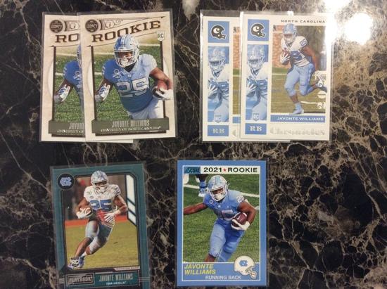 2021 Chronicles Draft Picks Javonte Williams 6 Card lot Rookies!