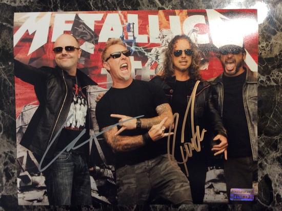 "Lars & Robert Trujillo ""Metallica"" Autographed 8+10 Photo with Certified COA"