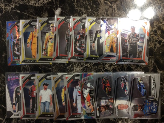 2020 prizm nascar 17 card lot - All Top  drivers