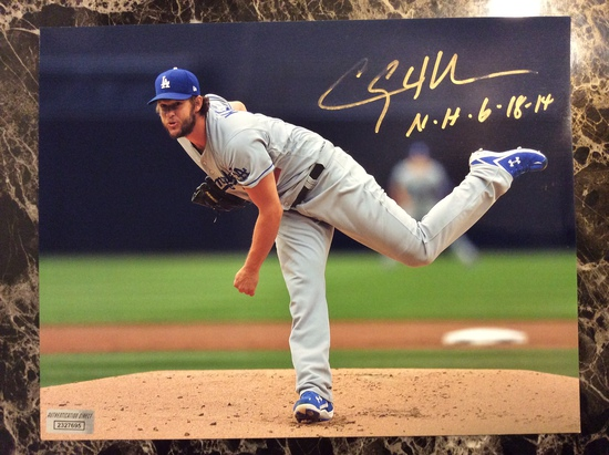 """Clayton Kershaw """"LA Dosgers"""" Autographed 8+10 Photo with Certified COA"""