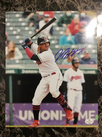 Cleveland Indians Jose Ramirez Autographed 8+10 Photo with Certified COA