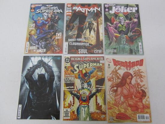 DC UNIVERSE COMIC LOT X 6 INCLUDED IS JOKER'S AND BATMAN'S SEE DESCRIPTION
