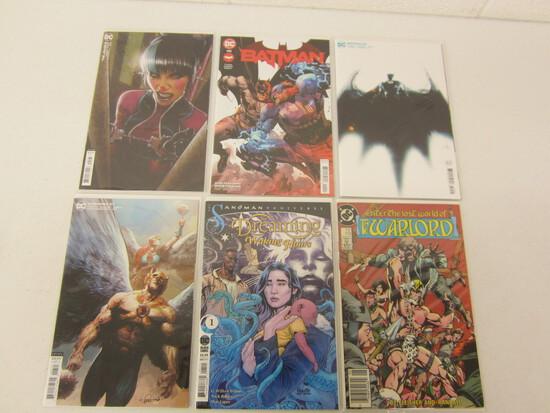 DC COMIC BOOK X 6 LOT OF BATMAN'S ENZER THE LOST WORLD / HAWKMAN/ SANDMAN UNIV/ THE JOKER - SEE DES