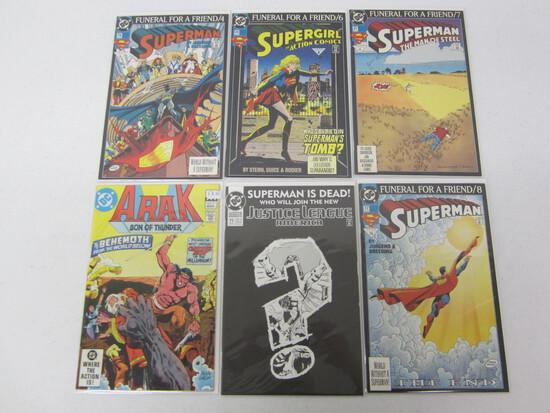 DC 6 COMIC LOT - SUPERMAN AND SUPER GIRL LOT INCLUDING 1 ARAK - SEE DESCRIPTION FOR COMICS