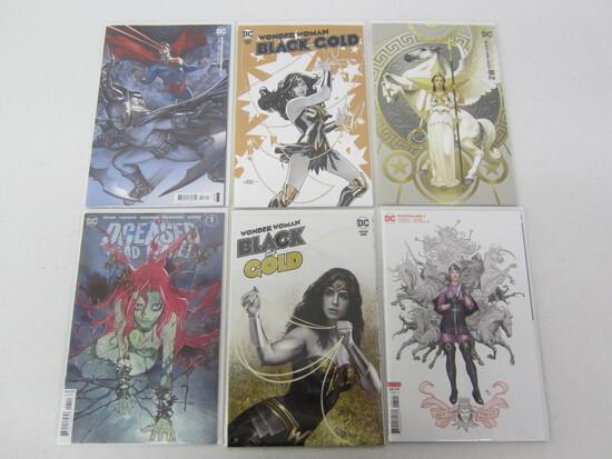 DC COMIC X6 LOT BEING; WONDER WOMAN'S/ BATMAN-SUPERMAN'S/DECEASED DEAD PLANET/PUNCHLINE/SEE DESC.