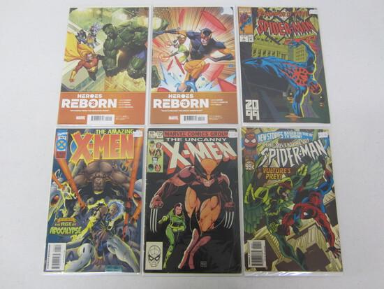 MARVEL COMIC X6 LOT BEING; SPIDERMAN'S/ HEROES REBORN/ X-MEN  - SEE DESCRIPTION