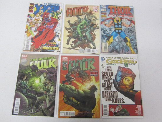 MARVEL COMIC LOT X 6 INCLUDING; THE HULK/ X-MEN/THOR/ GREEN LANTERN/  SEE DESCRIPTION/PICTURES!