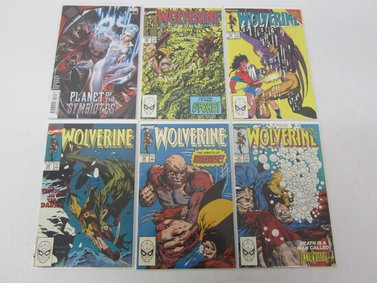 MARVEL COMIC X 6 LOT ALL BEING; WOLVERINE'S AND ONE PLANET OF THE SYMBIOTES - SEE DESCRIPTION/PICS!