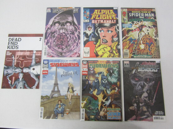 MARVEL COMIC LOT X 7; SEE DESCRIPTION - DC' AND MARVEL COMICS! , EVEN A VARIANT EDITION INCLUDED!