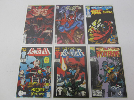 MARVEL COMIC X 6 LOT BEING; SPIDERMANS/WOLVERINE'S AND THE PUNISHER - SEE DESCRIPTION