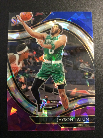 "2021 Select Basketball Jayson Tatum ""Court side Cracked Ice"" SSP"