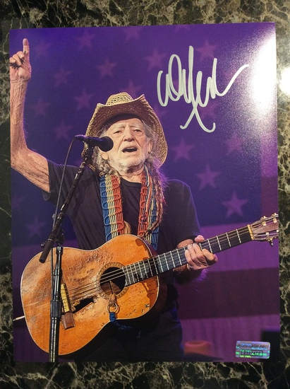 Willie Nelson Autographed 8+10 Photo with Certified COA