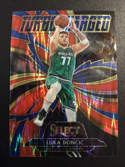 """2021 Select Basketball Luka Doncic """"Turbocharged Flash Prizm"""""""