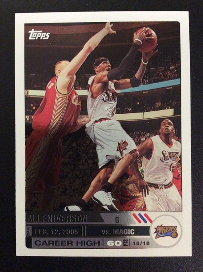 2005 Topps Allen Iverson #94/179