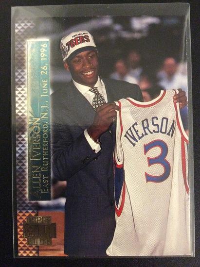 "1996 Topps Stadium Club Allen Iverson RC ""Shining Moments"""