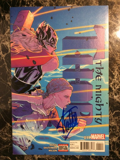 """Stan Lee Autographed """"Thor"""" Comic Book with Certified COA"""