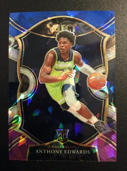 """2021 Select Basketball Anthony Edwards RC """"Cracked Ice"""" Rookie!"""
