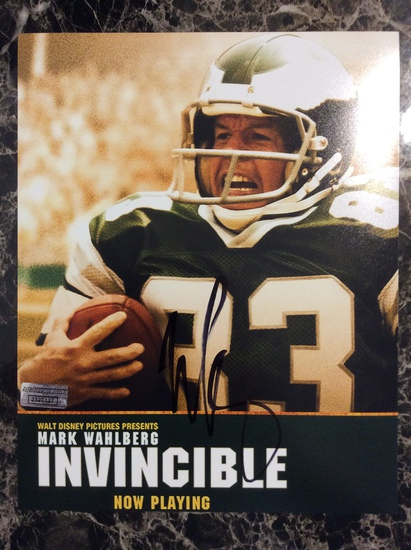 """Mark Wahlberg """"Invincible"""" Autographed 8+10 Photo with Certified COA"""