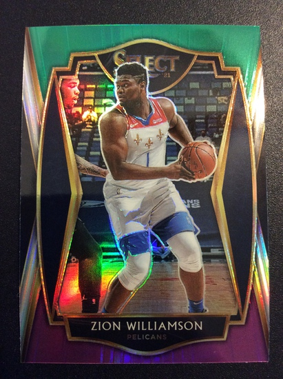 """2021 Select Basketball Zion Williamson """"Tri Color Prizm"""" 2nd Year Mint!"""