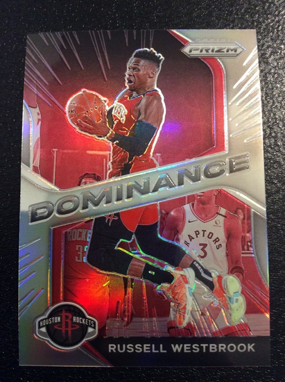 """2021 Prizm Russell Westbrook """"Dominance Silver"""""""
