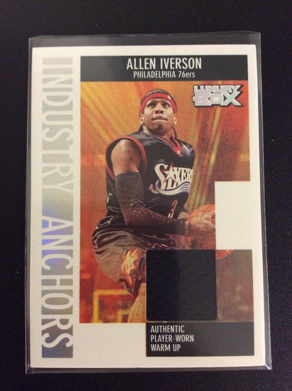 """2006 Topps Luxury Box Allen Iverson """"Industry Anchors"""" Game Worn Patch #225/279"""