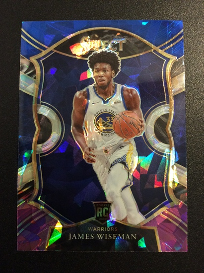 """2021 Select Basketball James Wiseman RC """"Cracked Ice"""" Rookie!"""
