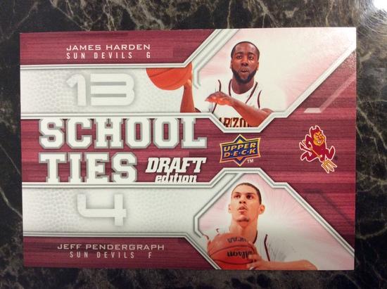 """2009-10 Upper Deck Draft Edition James Harden RC """"School Ties"""""""