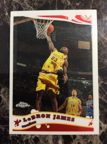 2005-06 Topps Chrome LeBron James Mint!